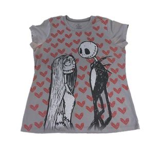 Nightmare Before Christmas Gray Tee, Size 1X